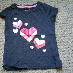 Girls heart t-shirt